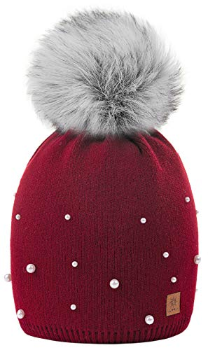 Womens Bobble Winter Color Ski Cap Lana Pom 1 4sold Hat a Borgo Ball Modelo Girls Big Women Ladies Snowboard Beanie Con xBfBawqI