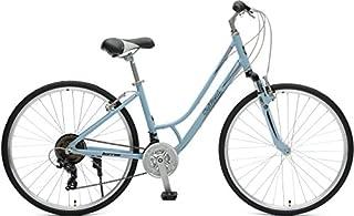 Retrospec Critical Cycles Women's Barron Hybrid 21 Speed Bike, Powder Blue, 18
