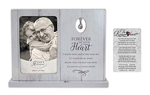 Bright Dog Inspiration Sympathy Memorial Gift Set | Forever in Your Heart Frame and Prayer Card