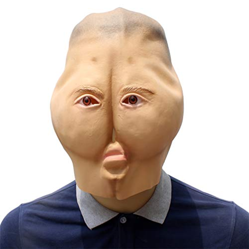 Novelty Funny Halloween Cosplay Party Costume Latex Head Mask - Weird Buttock -