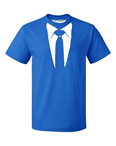 Promotion & Beyond Tie and Suit White Tuxedo Funny Men's T-Shirt, M, (Royal Fancy Dress Ideas)