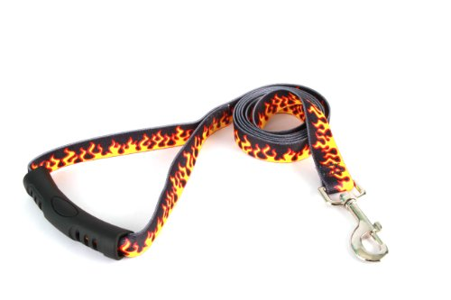 (Yellow Dog Design EZ-Grip Lead, 1-Inch by 60-Inch, Red Flames)