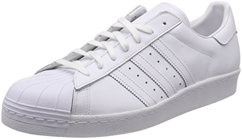 Adidas White 80s Superstar Running Scarpe Sportive Core Black Uomo Ftw PxPrwg