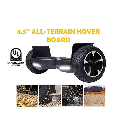 "All Terrain Rugged 8.5 Inch Wheels Hoverboard Off-Road Smart Self-Balancing Scooter (Black, 8.5"")"