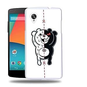 Case88 Designs Danganronpa Monokuma Protective Snap-on Hard Back Case Cover for LG Nexus 5 by icecream design