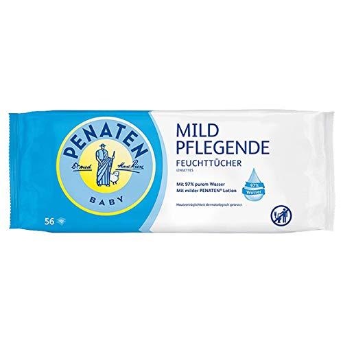 Penaten 95378 Mild verzorgende vochtige doekjes, extra zachte doeken voor baby's met 97% puur water, aangename geur en…