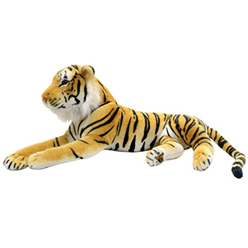 - TAGLN Large Stuffed Animals Tiger Toys Plush Big (Brown Side Lying, 27 Inch)