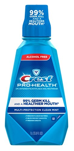 Crest Pro-Health Multi-Protection Alcohol Free Rinse 1L, Refreshing Fresh Mint - 2 Pack