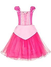 cf6c00ccdf69 Little Girls Princess Aurora Costume Halloween Party Dress Up