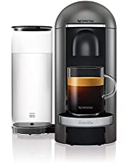 Nespresso, Pod Coffee Machine, Krups, Vertuo Plus, Titanium [Energy Class A]