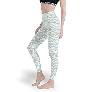 Vrnceit Graphic Geometry Women's Lightweight Leggings Fun Yoga Pants Soft Capris Tights for Workout