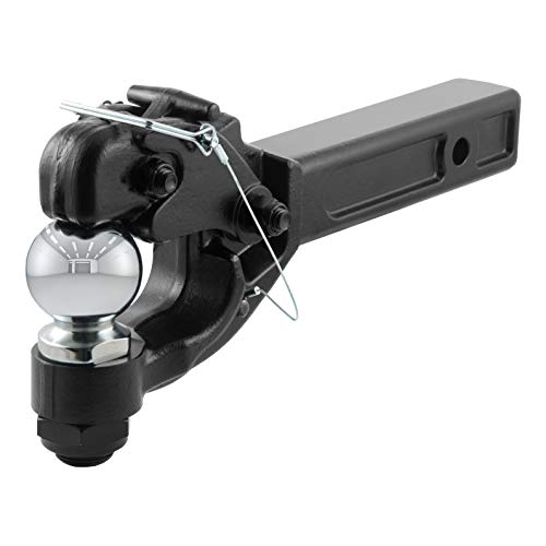 (CURT 48006 Pintle Hitch with 2-5/16-Inch Trailer Ball Black Fits 2-Inch Receiver 16,000 lbs, 15-1/4-Inch Length)