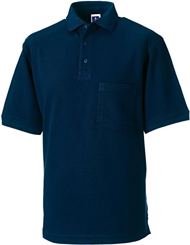 Russell Collection Strapazierfähiges Piqué Arbeits-Poloshirt R-011M-0 3XL,French Navy