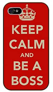 iPhone 6+ Plus Keep Calm and be a boss - black plastic case / Keep Calm, Motivation and Inspiration