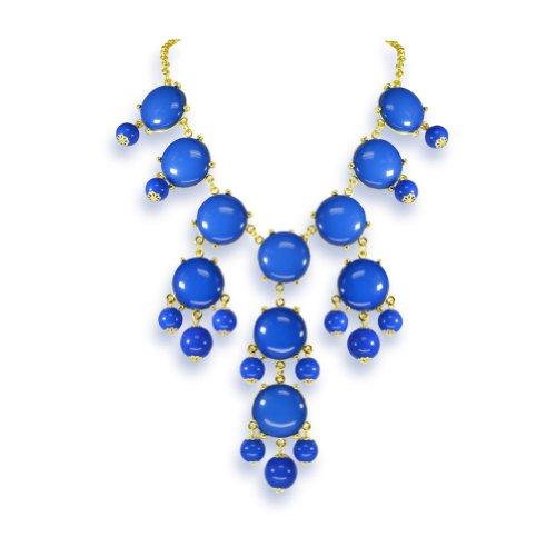 Heyjewels Bubble Necklace Bib Statement Necklace Mini Bubble Choker Jewelry Royal Blue