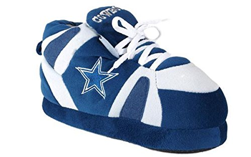 Comfy Feet DAL01-2 - Dallas Cowboys - Medium - Happy Feet NFL Slippers by Comfy Feet