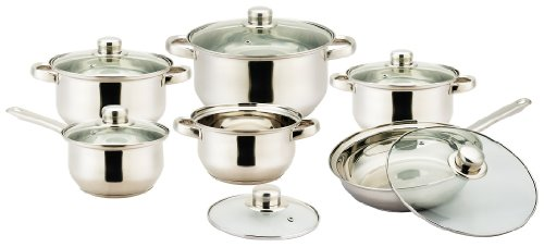 Vinaroz 12-Piece Vannes Stainless Steel Cookware Set