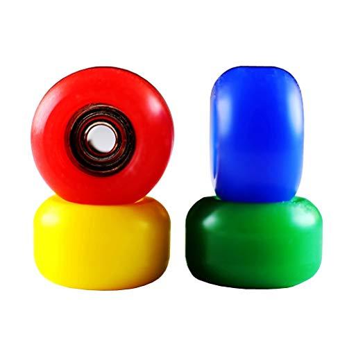 NOAHWOOD X Fingerbird 0 Drag Fingerboards Fidget Active Wheels ( 4 Bearings / 4 Wheels ) Red Yellow Blue Green (Fingerboard Wheels)