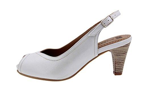 vestir sandalia de cómodo Piesanto ancho mujer Hielo 4260 confort Calzado piel Bf0Yw