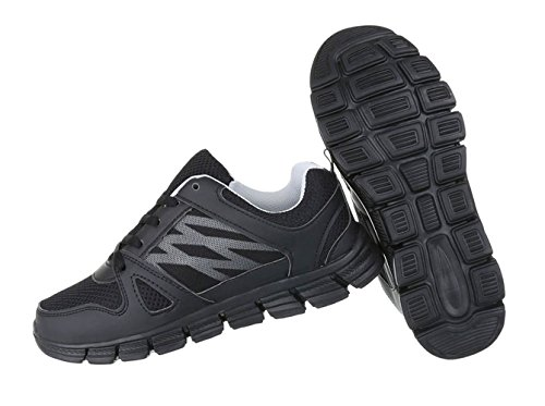 Herren Schuhe Sneaker Freizeitschuhe Modell Nr.5 Schwarz