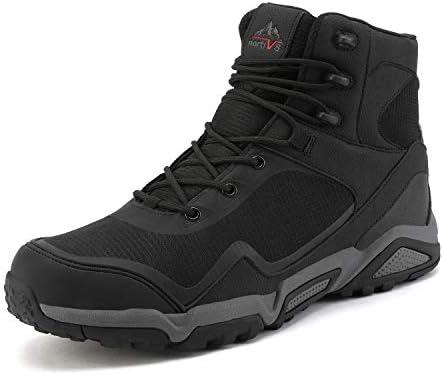 NORTIV 8 Men's Waterproof Hiking Boots Outdoor Mid Trekking Backpacking Mountaineering Shoe