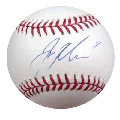 Joe Mauer Autographed AL Baseball PSA/DNA #E26785