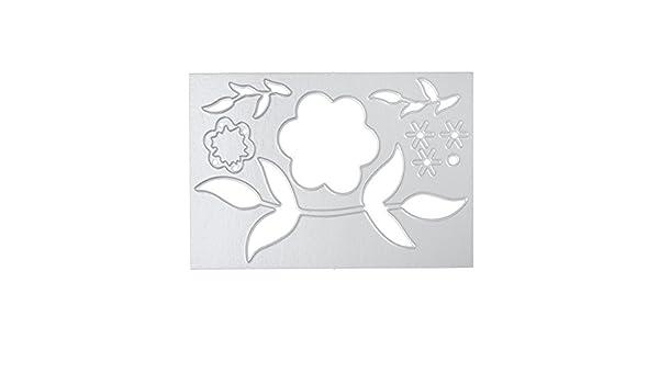 DIPOLA Acero del Metal en Relieve Troqueles de Corte Kit Plantilla para DIY Hecho a Mano Papel Scrapbooking Tarjeta del Arte &010: Amazon.es: Hogar