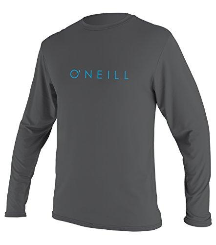 O'Neill Youth Basic Skins UPF 30 + Long Sleeve Sun Shirt, Smoke, 14