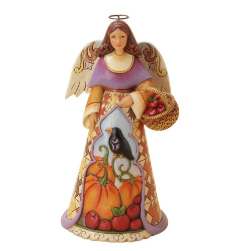 Enesco Jim Shore Heartwood Creek Autumn Angel with Crow Figurine, 7.25-Inch