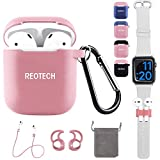 Airpods Cover Sleeve, REOTECH Airpods Accessories Set...
