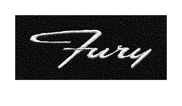 1962-1964 Plymouth Fury Automatic Tuxedo Carpet Logo Floor Mat 4pc