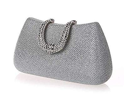 Bloomerang Luxy Moon Women Crystal U Diamond Clasp Clutch Bags Glitter  Silver Evening Bags Gold Clutc  Amazon.in  Shoes   Handbags 8101832782b2