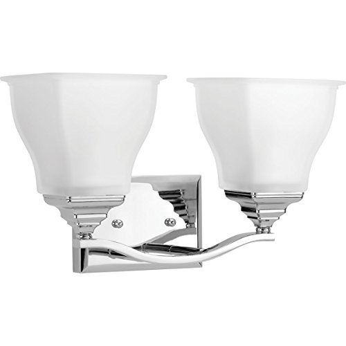Progress Lighting P2176-15 2-100W Medium Base Bath Bracket, Polished Chrome ()
