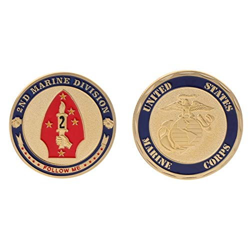 - Patch Pvc - Commemorative Coin Marine Corps 2nd Division Collection Art Gift Souvenir - Germany Us Joy Non-currency Coin World Usa Coin Division Game Coin The Jacket Patch Game Division Airb