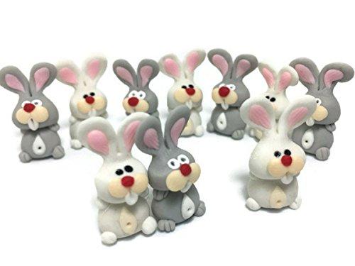 Lot of 10 Miniature Rabbit Fairy Garden Supplies Animal Figurine Furniture Dollhouse (Furniture Japanese Miniature Garden)