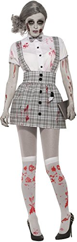 Ladies Sexy Zombie School Girl Halloween Horror Scary Walker Stalker Con Convention Cosplay Fancy Dress Costume Outfit -