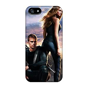 Scratch Protection Cell-phone Hard Covers For Apple Iphone 5/5s (aty26093cUeq) Unique Design Attractive Divergent 2014 Movie Image