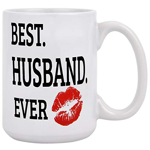 Husband Gifts - Funny Coffee Mug - Best Husband Ever Coffee Tea Cup - Ceramic Coffee Mug - Father's Day Gift Novelty Gifts for Husband Valentine's Day Fiance BF Boy Friend