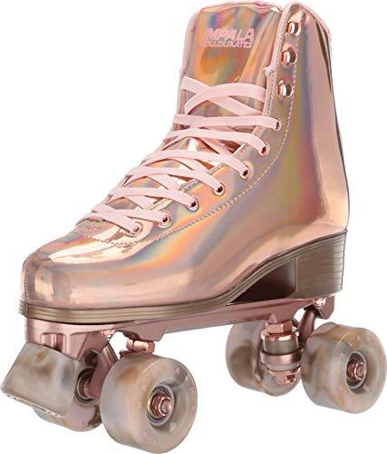 Impala Rollerskates Girl's Impala Quad Skate (Big Kid/Adult) Marawa Rose Gold 8 M