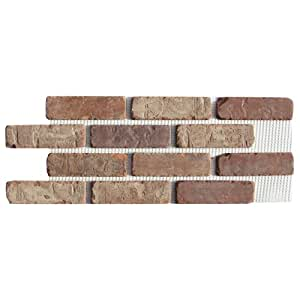 Brickweb Thin Brick Box of Castle Gate Flat Sheets - 8.7 sq. ft.