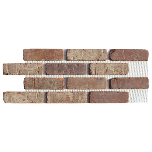 Brickweb Thin Brick Box of Castle Gate Flat Sheets - 8.7 sq. ft. - Brick Tile Flooring