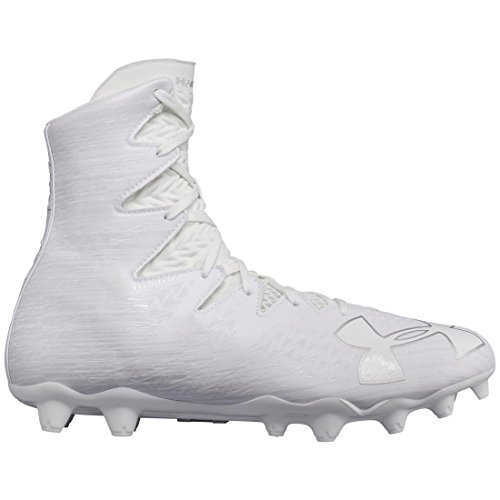Under Armour Men's UA Highlight MC Football Cleats White/Metallic Silver 9.5 D(M) US (Mens Football Cleat)