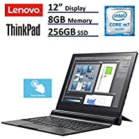 Lenovo ThinkPad X1 2-in-1 Tablet Laptop (12 (2160x1440) IPS FHD+ Touchscreen, Intel Core m7-6Y75, 256GB SSD, 8GB RAM,  Detachable Keys, Only 1.7lbs, Windows 10 Professional)