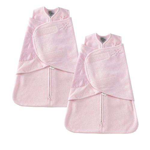 - HALO SleepSack Micro-Fleece Swaddle, Pink, Preemie 2-Pack