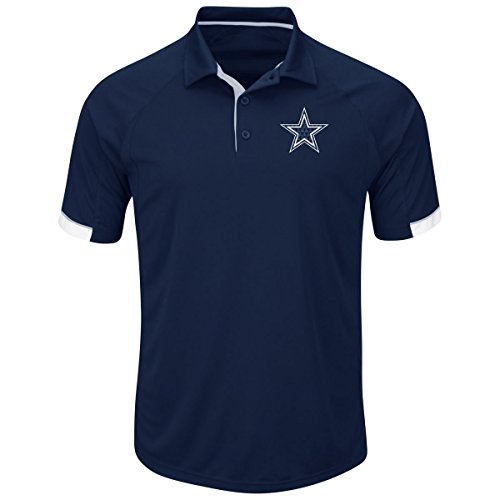 Dallas Cowboys Men's Big and Tall Second Wind Polo Shirt Navy - Dallas Store Polo