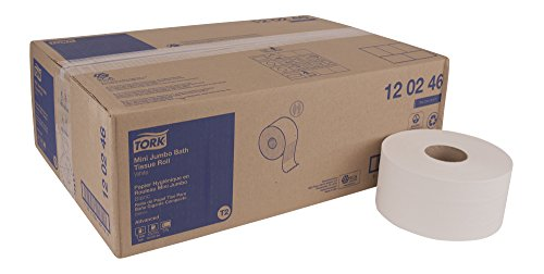 - Tork Advanced 120246 Mini Jumbo Bath Tissue Roll, 2-Ply, 7.36