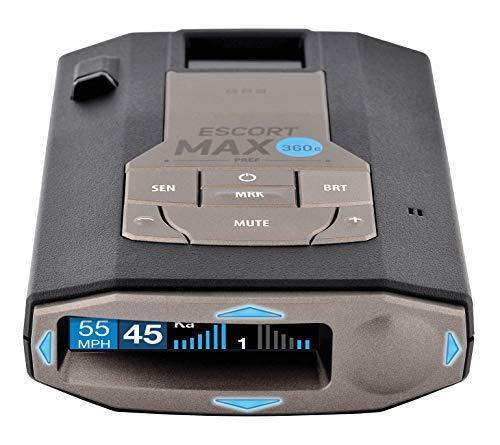 (ESCORT MAX360C - WiFi Enabled, Laser Radar Detector, 360° Protection, Extreme Long-Range, Bluetooth, Voice Alerts, OLED Display, Escort Live! Fewer False Alerts, Fastest Response Time)