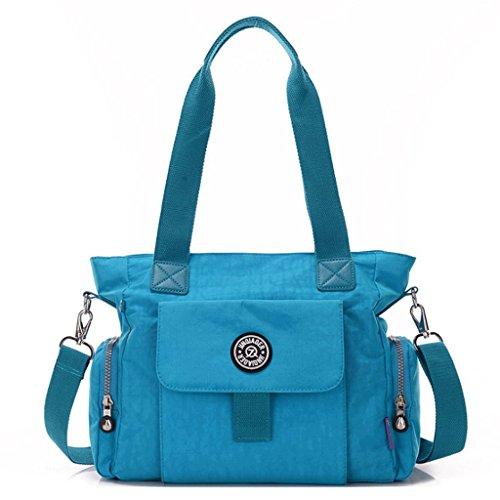 Guo Feng Lady Bags Toile fourre-Tout Toile Grande capacité Sac à bandoulière imperméable en Nylon Crossbody 5#