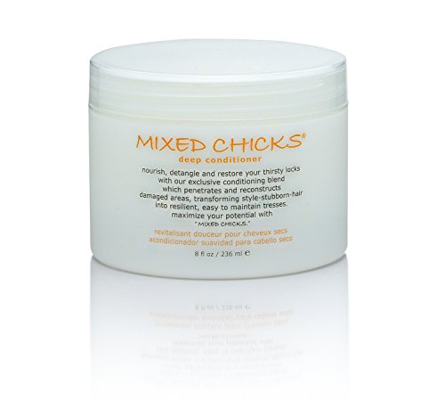 Mixed Chicks Leave In Conditioner (Mixed Chicks Detangling Deep Conditioner - Softens, Moisturizes & Detangles Straight or Curly Hair, 8 fl.oz.)