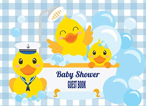 Baby Shower Guest Book: Yellow Rubber Ducky GuestBook Thoughts & Advice for Parents with Bonus Keepsake Page & Gift Log